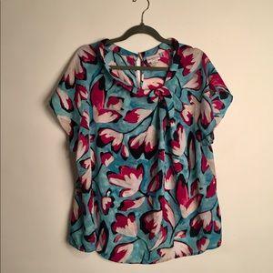 Liz Claiborne floral blouse EUC 1X